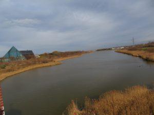 水郷東大橋から北を望む