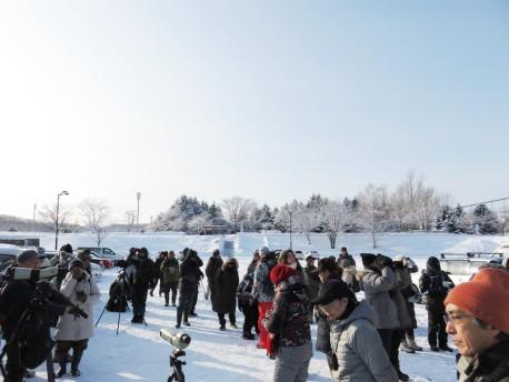 1真駒内公園探鳥会20170129 開始前、空は晴天です