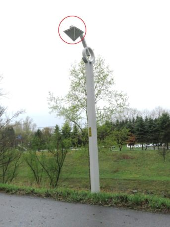 真駒内公園の街路灯